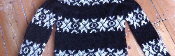 een bruine trui breien